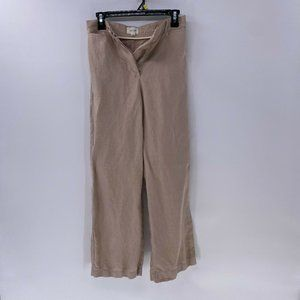 Wlifred with linen button fly wide leg pants sz 2